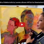 How to paint with a Pallette knife by Leonie.e.Brown ARTist for lifeartschool