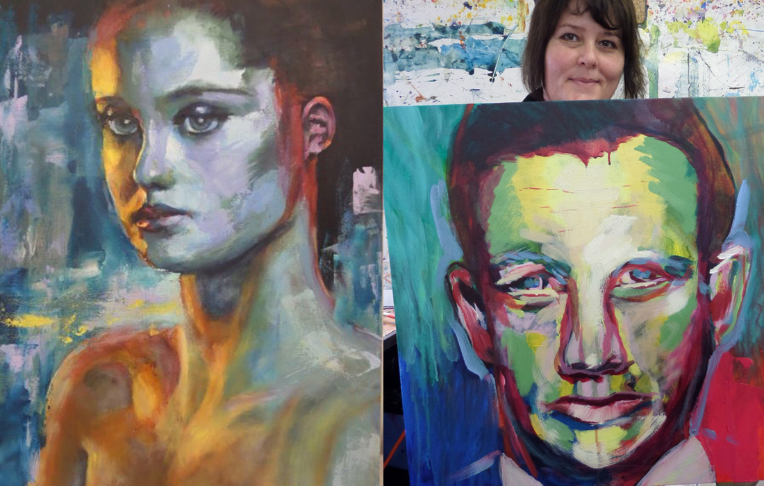 Painting Portraits: Traditional, Impressionistic and Modern.